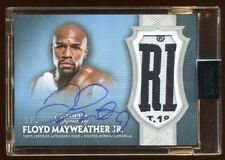 FLOYD MAYWEATHER JR 2017 TOPPS DYNASTY 1/1 AUTOGRAPH JUMBO PATCH LOGO AMAZING  !