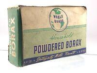 Powdered Borax Integrity Mills Toronto World Brand Vintage Empty Box Q589