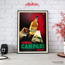 Poster Vintage Cordial Campari (Nizzoli) Stampa Fine Art Manifesto Aperitivo