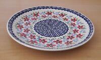 Geschenk großer Speise Teller 26 cm Bunzlauer Keramik ni3301 Handarbeit must101