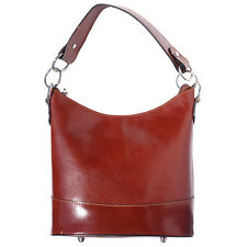 Shoulder Bag Italian Genuine Leather Hand made in Italy Florence 8687 br