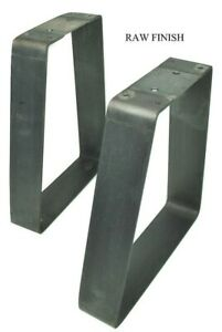 "2Pcs 16"" Raw (bare metal) Coffee Table / Bench Legs DIY"