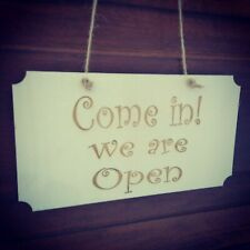 Open Closed Shop Sign - Wooden sign - double sided ,shop cafe entry sign