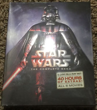 BRAND NEW Star Wars: Complete Saga episodes 1-6 Movie Box Set 9-Disc Blu-Ray