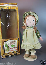 "Vintage Knickerbocker original Holly Hobbie Friend AMY Rag Doll 14"" 1968  w/ Box"