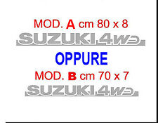 2 ADESIVI  SUZUKI 4WD x FIANCATE SUZUKI, SANTANA, VITARA, SAMURAI  ENTRA E LEGGI