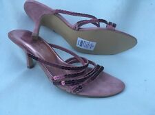 NEW Dolcis Pink / Purple Sandals Party Slip On Stiletto Size 38 5