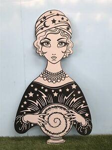 Giant MDF Fortune Teller Clairvoyant Crystal Ball Decoration HW CR Circus Fair