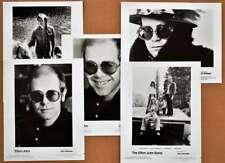 Elton John Promotional Photos Lot of 5 1970s 1980s