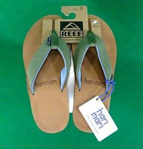 New HARI MARI men's SCOUTS sandals Green & Blue flip flops sz 8 NWT