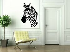 Zebra Head Home Decal-Great for walls of your home and as gifts.