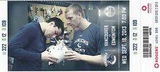 2013 VANCOUVER CANUCKS VS EDMONTON OILERS BURROWS HANSEN TICKET STUB 9/16/13