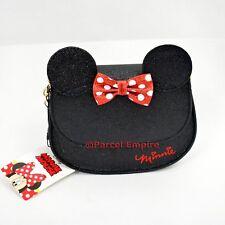Nero Glitter Minnie Mouse bag purse handbag CROSS-BODY Tracolla UK