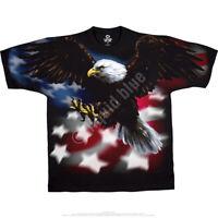 AMERICAN EAGLE-2 sided T-SHIRT-PATRIOTIC-USA FLAG L-XL-XXL-3X,4X,5X,6X Liberty