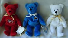 "Lot of 3 Holy Bears 1999 Heart Sacrament Tribute Series Communion Bear Noah 9"""