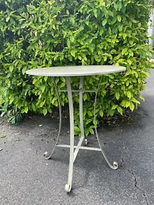 Bistro table Metal side table french style Vintage metal table Indoor table