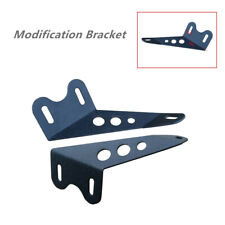 2PCS Off-road Roof Steel Bracket Truck Car Upper Bar Mounting Bracket Black Kit