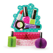 3 Sparkle Spa Party Table Decoration Centerpiece Set Makeup Nails Birthday Event