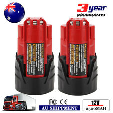 2 Packs 2000mAh Lithium-ion Replace for Milwaukee M12 12V Battery 48-11-2401 Red