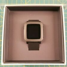Pebble Time Stainless Steel Case Jet Black Classic Buckle - (501-00020)