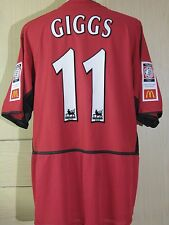 RYAN GIGGS COMMUNITY SHIELD FA MANCHESTER UNITED 2003 PLAYER JERSEY SHIRT NIKE
