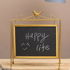 Wood Message Board Sign Small Hanging Tabletop Chalkboard Sign Memo Board Plaque