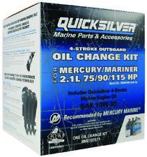 OEM Mercury Quicksilver 4-Stroke 10W30 Oil Change Kit 5 Liter 75/90/115 HP EFI