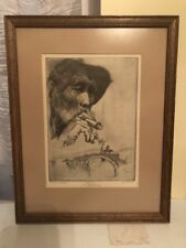Kent Hagerman Etching From The Jim Cambell Estate Super Rare 1 OF 1
