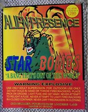 Alien Presence Fireworks Promo Poster 4th of July Firecracker Promotional