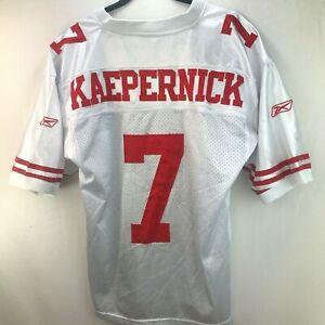 Onfield Reebok NFL San Francisco 49ers Colin Kaepernick White Jersey Men sz 50