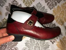 407b51d674967 Women's Remonte Dorndorf Mary Jane Low Heel Shoes Burgundy Leather Size 38  / 7