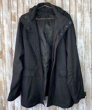 Uniqlo Men Dark Gray Hooded Zipper Jacket Pocket L Large