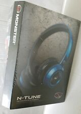 Monster NCredible NTune On-Ear Headphones  COBALT BLUE *** BRAND NEW***