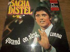 Sacha Distel Quand On S'est Connu LP EX+ UK Italy