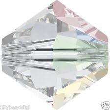 Swarovski 5328 Xilion Bicone Beads  6mm : Crystal AB (20 beads)