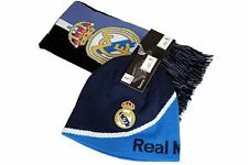 Real Madrid C.F. Official Licensed Product Soccer Scarf Beanie Combo - 003