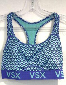 Victoria Secret Green Multi Color VSX Sport Women's Size M Racerback Sport Bra
