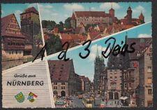 1060Q)  Ansichtskarte  AK   Nürnberg     Grüße aus Nürnberg  3 Motive