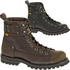 Caterpillar Boots Men Brent Leather Shoes Brown P717832, Black P717831