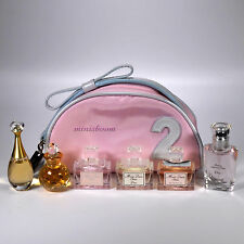 CHRISTIAN DIOR Lot of 6 Mini Perfume Miniature Bottle for Women in Vanity Pouch