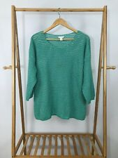 Chico's Women's 3/4 Sleeve Boat Neck Pullover Metallic Knit Sweater Top Size 3