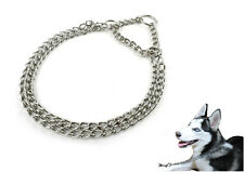Pet Dog Training Collar Double Chrome Plated Choke Metal Stainless Steel Chain