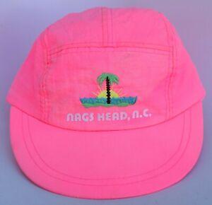 Nags Head NC Lightweight Baseball Cap Hat Adjustable Strapback Pink 100% Nylon