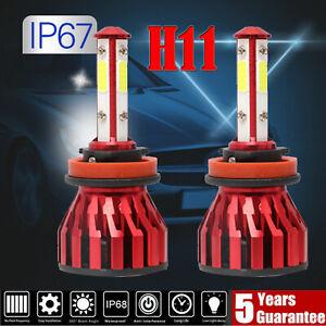 H8/H9/H11 4-Side LED Headlight Kit 1500W 300000LM For GMC Sierra 1500 3500 HD
