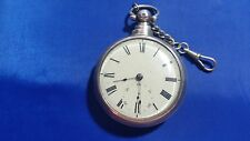 Antique Josh Johnson Liverpool Pocket Watch Double Silver Case for parts