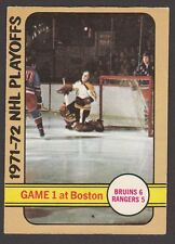 1972-73  OPC O PEE CHEE   #7  GAME 1 AT BOSTON   EX-MT   INV A2001