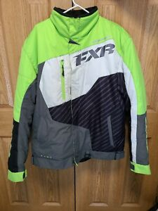 Mens FXR Snowmobile Jacket Lime Green Gray Large