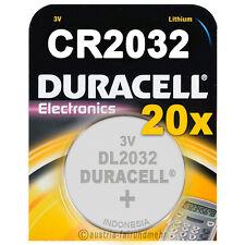 """20x CR2032 DURACELL Electronics Lithium DL2032 3Volt"
