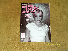 PINK sheet music Get the Party Started 2001 6 pages (VG+ shape)