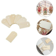 100pk Blank Wooden Gift Hang Tags Labels Presents Gift Bags Wine Bottles Arts